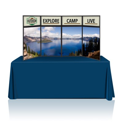 Tabletop Panel Display 8 ft. (Blue or Black) Graphic Package (Hardware & Graphic)